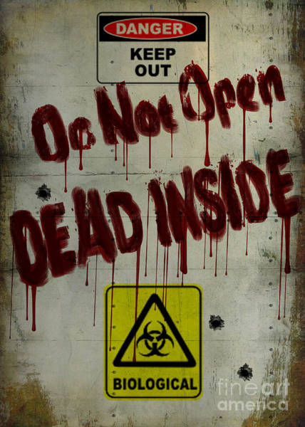Undead Wall Art - Painting - Do Not Open  by Cinema Photography