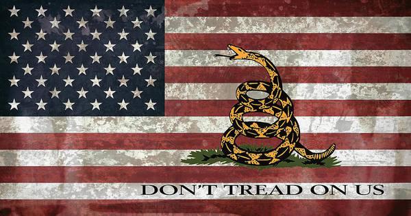 Wall Art - Digital Art - Do Not Tread On Us Flag by Daniel Hagerman