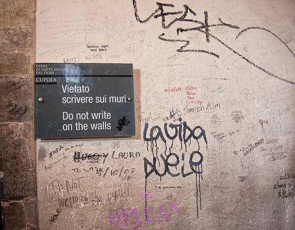 Photograph - Do Not Write On The Walls by Melany Sarafis