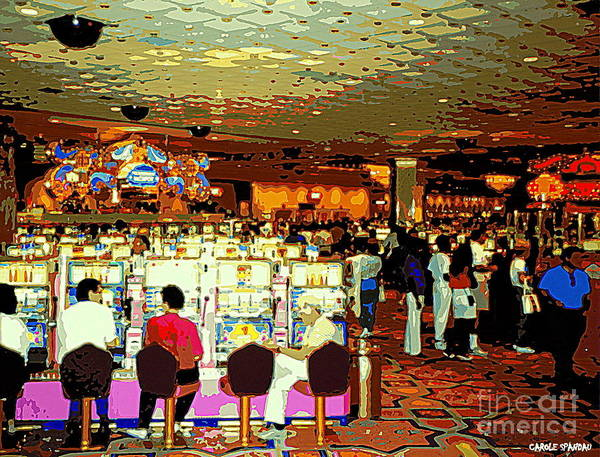 Painting - Do You Come Here Often ? Casino Slot Machine Pick Up Lines As You Gamble Your Life Savings Away by Carole Spandau