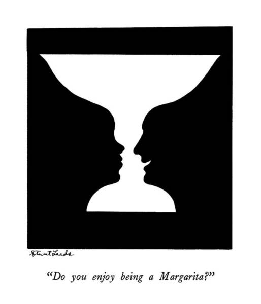 Silhouette Drawing - Do You Enjoy Being A Margarita? by Stuart Leeds