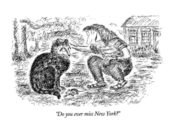 Rural Drawing - Do You Ever Miss New York? by Edward Koren