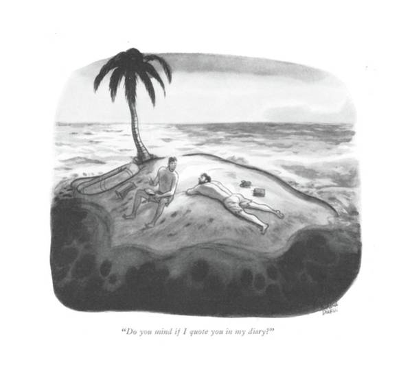 Shipwreck Drawing - Do You Mind If I Quote You In My Diary? by Richard Decker