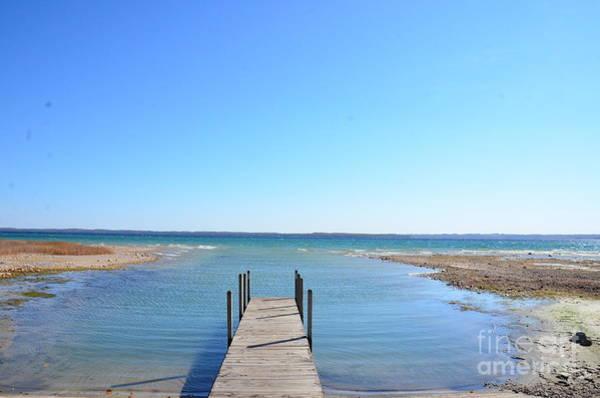 Photograph - Dock And Traverse Bay by Randy J Heath