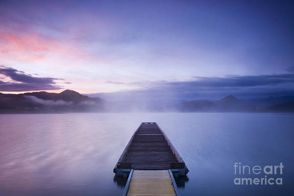 Rogue Valley Photograph - Dock At Sunrise, Or by Sean Bagshaw