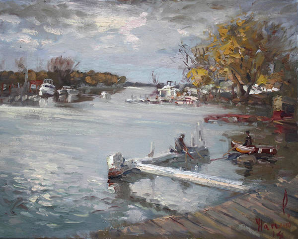 Tonawanda Wall Art - Painting - Dock At The Bay North Tonawanda by Ylli Haruni