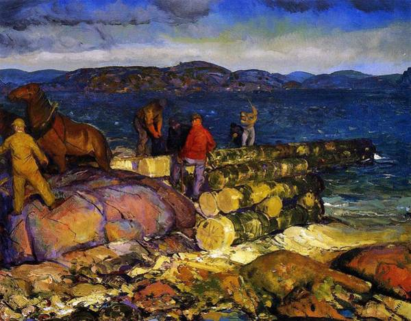 Masculine Painting - Dock Builders by George Wesley Bellows