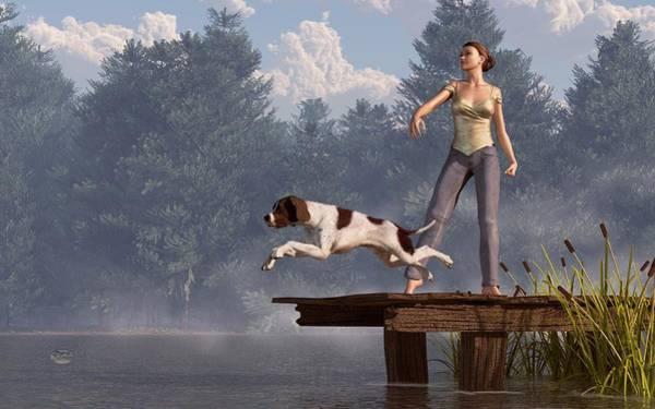 Digital Art - Dock Dog by Daniel Eskridge