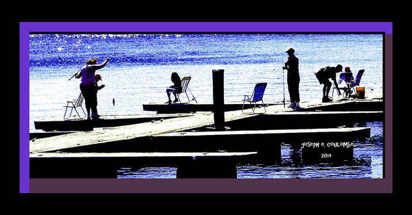 Photograph - Dock Fishing by Joseph Coulombe