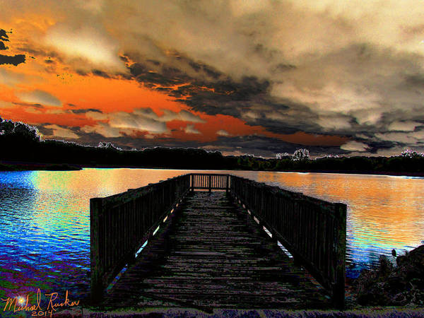 Ocean Wall Art - Digital Art - Dock In The Park by Michael Rucker