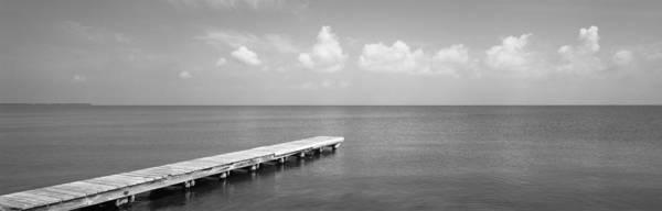 Solitary Photograph - Dock, Mobile Bay Alabama, Usa by Panoramic Images