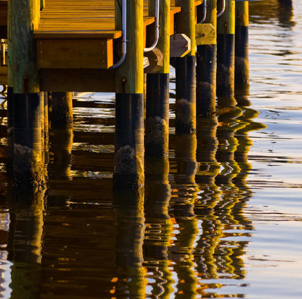 Photograph - Dock Reflections by Ginger Wakem
