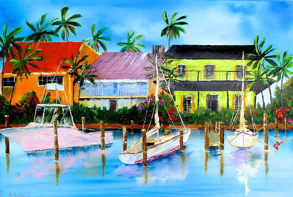Docked At The House Art Print