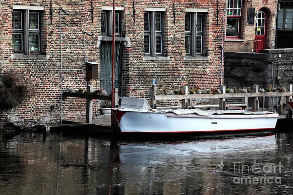 In Bruges Photograph - Docked In Bruges by John Rizzuto