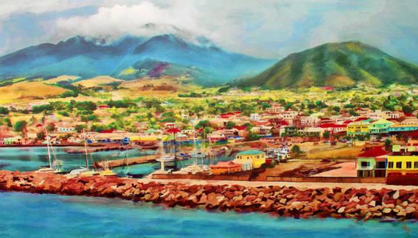 Docked In St. Kitts Art Print