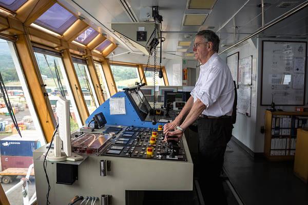 Docking A Z-drive Ship Art Print