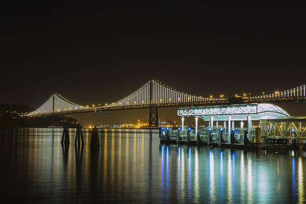 Photograph - Docks And Bay Lights by Bryant Coffey