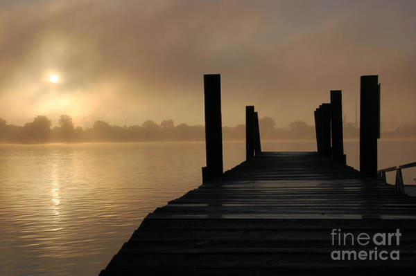 Dockside And A Good Morning Art Print