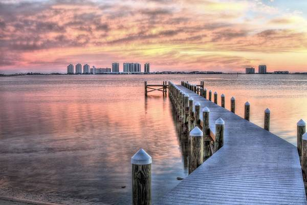 Wall Art - Photograph - Dockside In Navarre by JC Findley