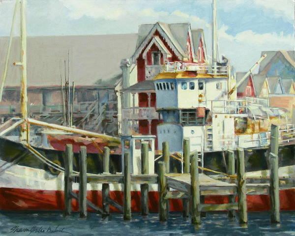 Oak Harbor Painting - Dockside Whimsy by Sharon Jordan Bahosh