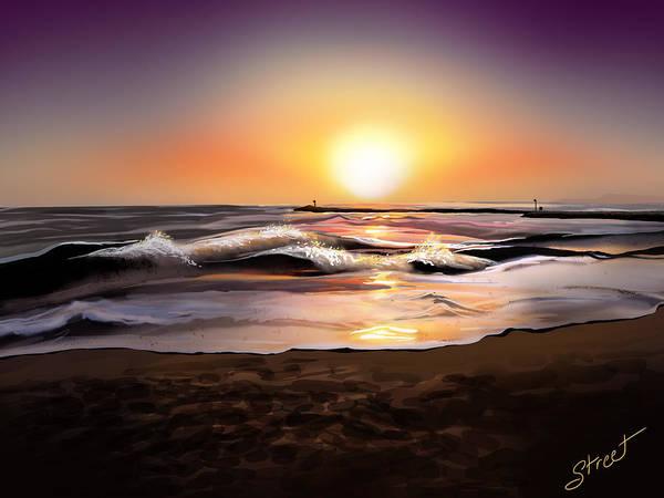 Lax Painting - Dockweiler Beach by Jen Street