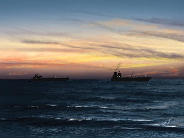 Lax Painting - Dockweiler Beach Ocean Study 2 by Jen Street