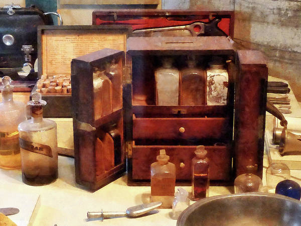Photograph - Doctor - Case With Medicine Bottles by Susan Savad