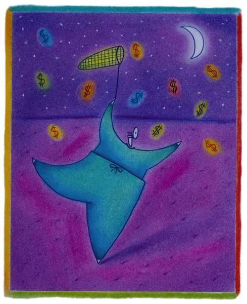 Doctor Chasing Dollars Art Print by Craig Smallish