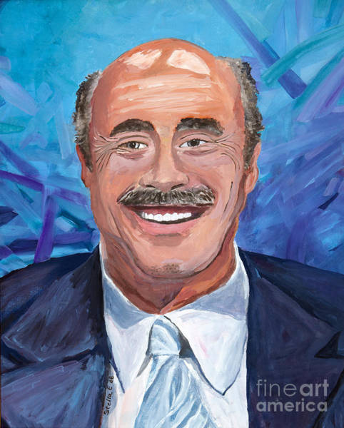 Painting - Doctor Phil Show Portrait by Stella Sherman