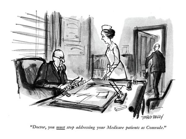 Medical Examination Drawing - Doctor, You <u>must<$> Stop Addressing by Donald Reilly