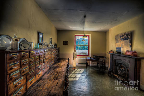 Fire Place Photograph - Doctors Office by Adrian Evans