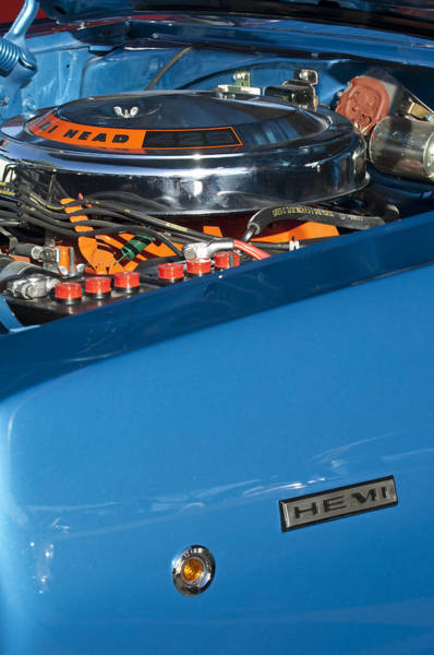Photograph - Dodge Coronet 426 Hemi Head Engine by Jill Reger