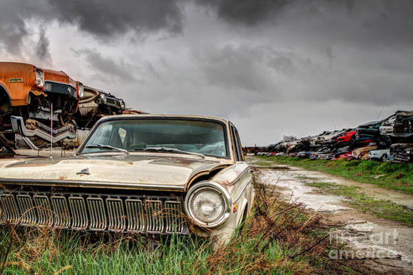 Wrecking Yard Photograph - Dodge Dart Hdr by Mark Brooks