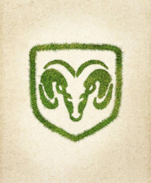 Water Plant Digital Art - Dodge Grass Logo by Aged Pixel
