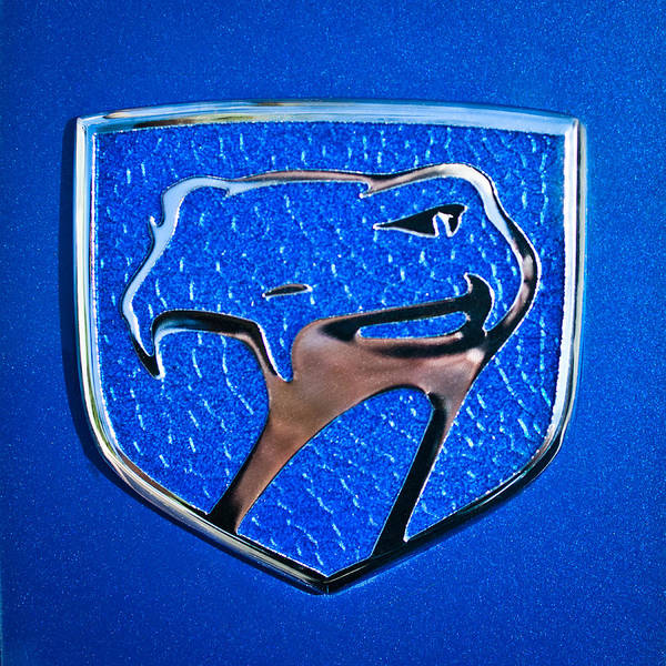 American Muscle Car Photograph - Dodge Viper Emblem -217c by Jill Reger