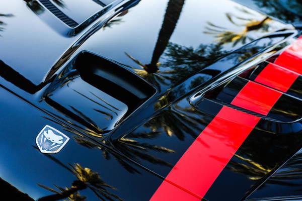 Photograph - Dodge Viper Hood Emblem -0376c by Jill Reger