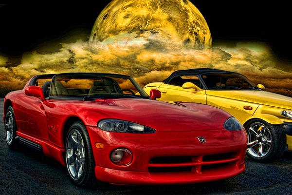 Prowler Photograph - Dodge Viper Zt10 And Plymouth Prowler by Tim McCullough