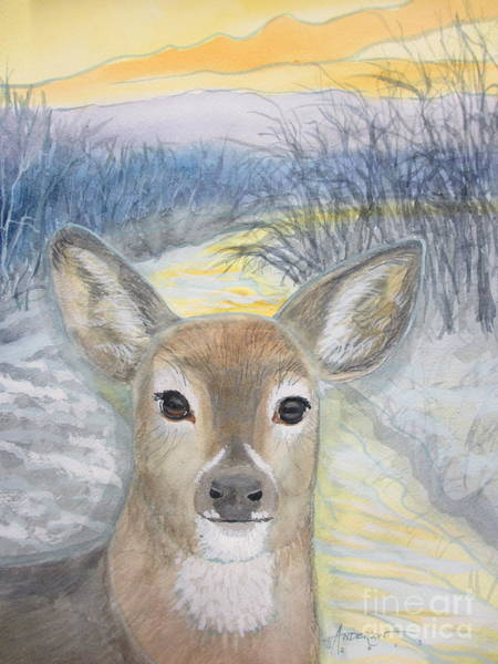 Painting - Doe A Dear by Sherri Anderson