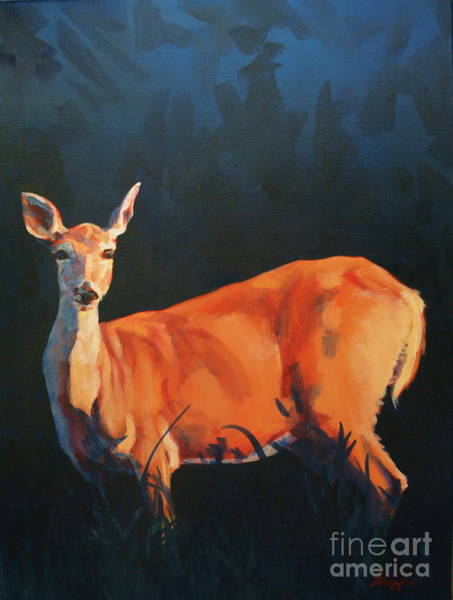 Painting - Doe At Stockade by Patricia A Griffin