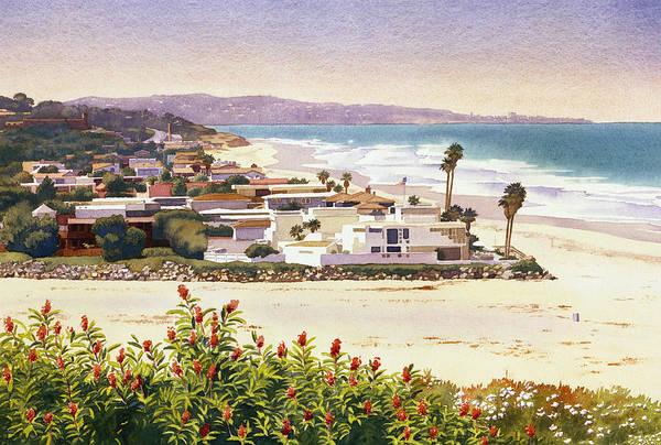 Wall Art - Painting - Dog Beach Del Mar by Mary Helmreich