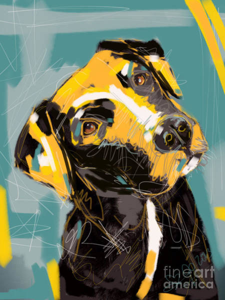 Painting - Dog Boris by Go Van Kampen