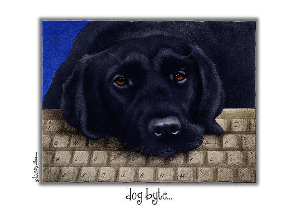 Keyboards Painting - Dog Byte... by Will Bullas