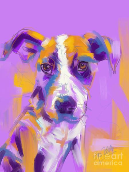 Painting - Dog Charlie by Go Van Kampen