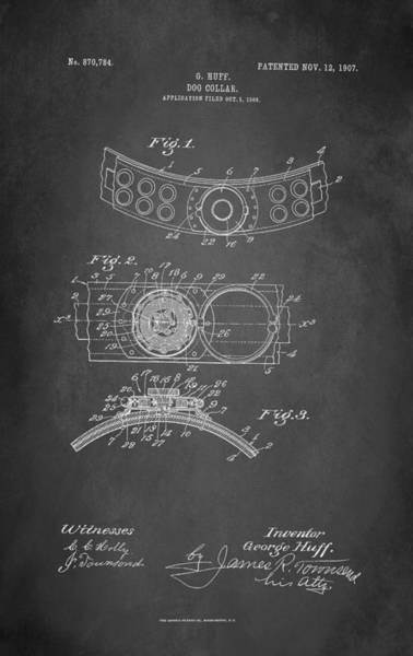 Wall Art - Digital Art - Dog Collar Patent 1907 by Patricia Lintner