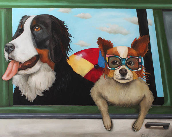 Painting - Dog Days Of Summer by Leah Saulnier The Painting Maniac