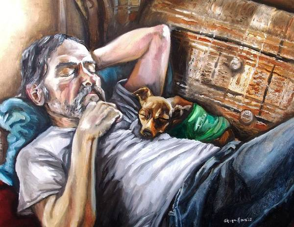 Snuggle Painting - Dog Days by Shana Rowe Jackson
