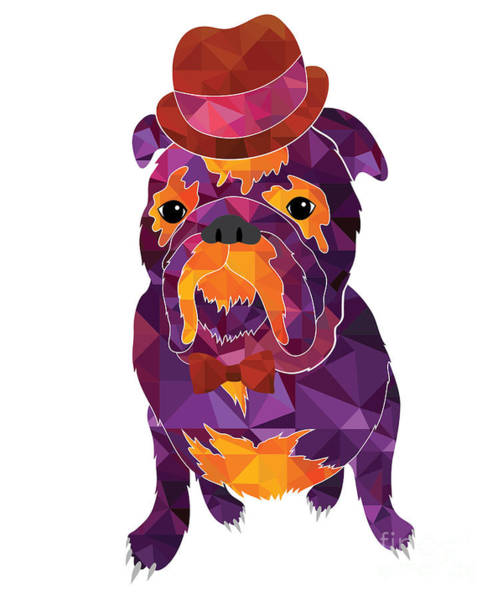 Cool Digital Art - Dog Gentleman by Lisa Kolbasa