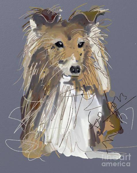 Painting - Dog Good Boy by Go Van Kampen