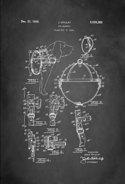 Wall Art - Digital Art - Dog Harness Patent 1935 by Patricia Lintner