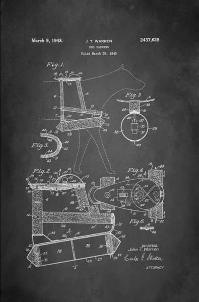 Wall Art - Digital Art - Dog Harness Patent 1945 by Patricia Lintner
